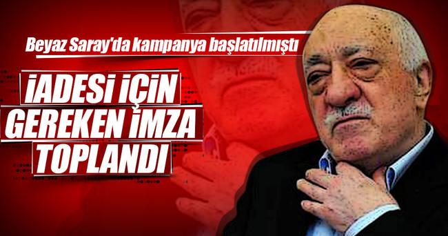 Gülen'in iadesi kampanyasında 100 bin imzaya ulaşıldı