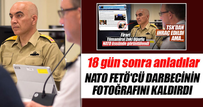 Uğurlu'nun fotoğrafı NATO'nun internet sitesinden kaldırıldı