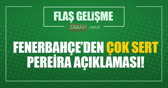 Fenerbahçe'den Vitor Pereira açıklaması: Antrenmana çıkmadı