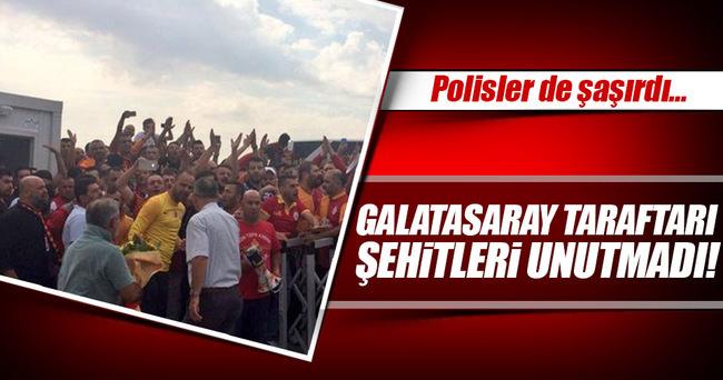 Galatasaraylı taraftarlar, Özel Harekatı unutmadı!