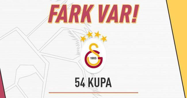 Galatasaray'dan rakiplerine gönderme: Fark var