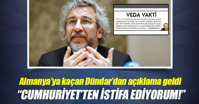 Can Dündar Cumhuriyet gazetesinden istifa etti