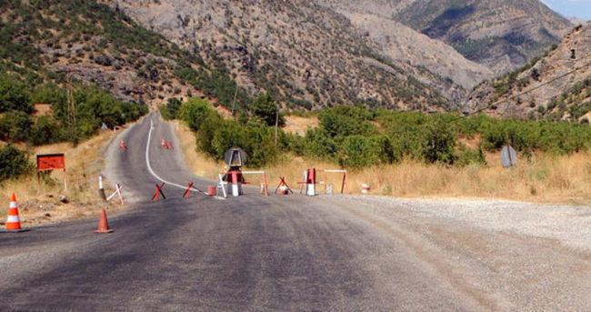 Tunceli-Ovacık karayolu ulaşıma kapatıldı