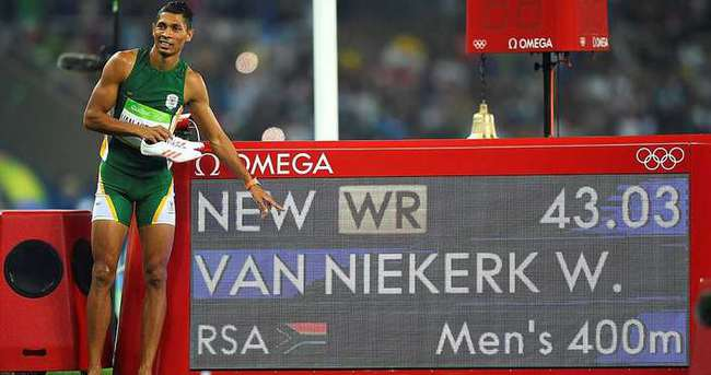 400 metrede rekor ve altın Niekerk'in