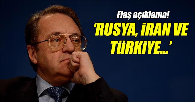 Rusya'dan 'üçlü görüşme' sinyali!