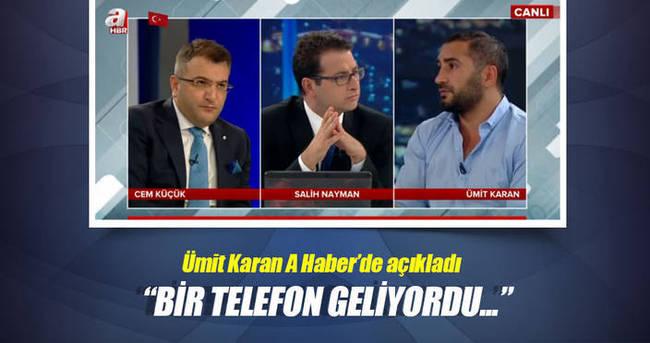 Ümit Karan FETÖ'yü A Haber'de anlattı