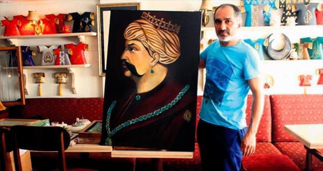 Yavuz'un portresi bitti sıra köprüde