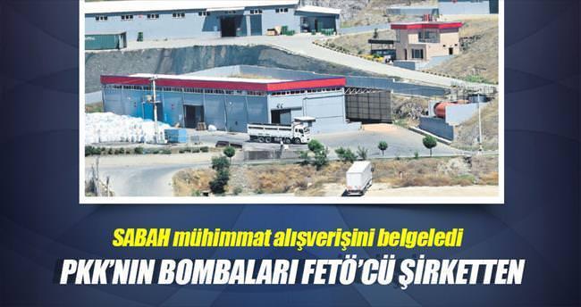 PKK'nın bombaları FETÖ'cü şirketten