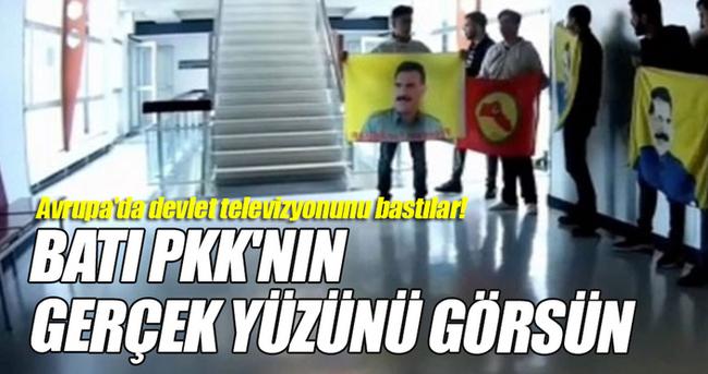 Avusturya'da PKK'lılar devlet televizyonunu bastı