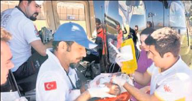 Prematüre bebek için ambulans helikopter