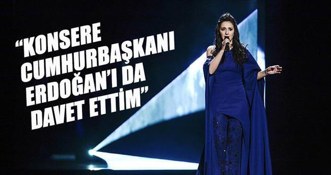 Jamala: Konsere Cumhurbaşkanı Erdoğan'ı da davet ettim