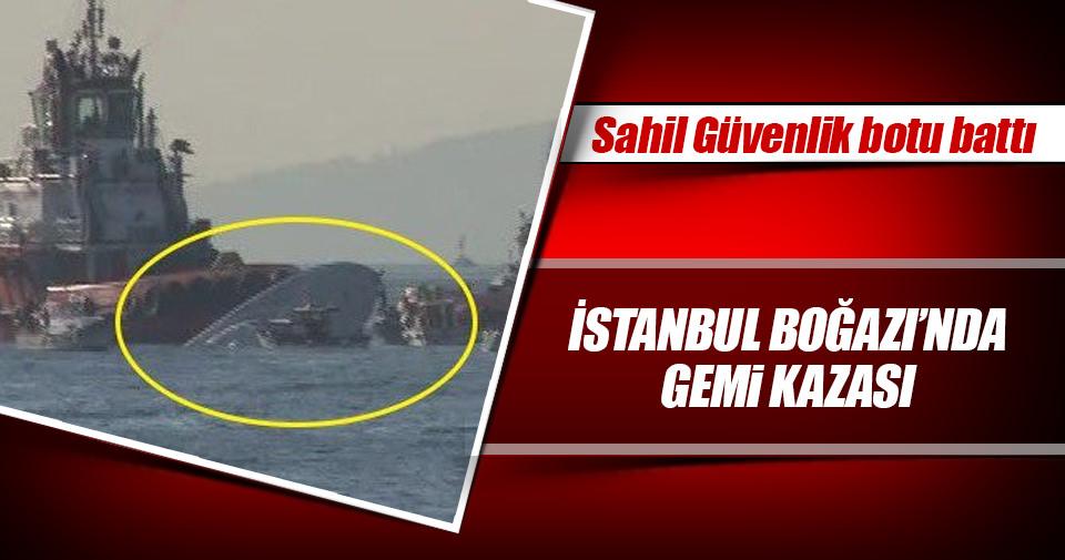 Sahil Güvenliğe ait bot alabora oldu