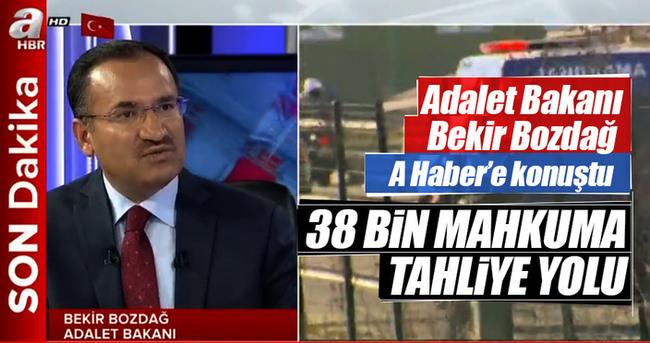 Bakan Bozdağ'dan A Haber'e önemli açıklamalar