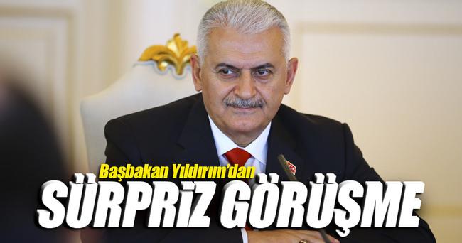 Başbakan Yıldırım'dan sürpriz görüşme