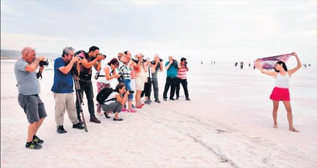 Tuz Gölü'nü fotoğrafladılar