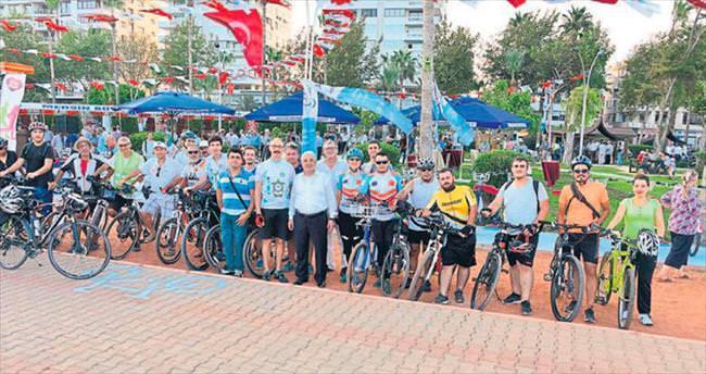 Akıllı bisiklet Mersin sahilinde