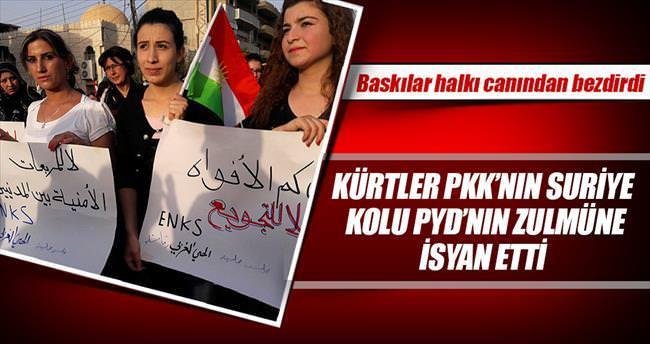 Suriyeli Kürtler PKK'yı protesto etti