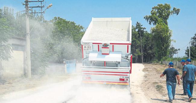 Mustafabeyli'de yol çalışmaları devam ediyor