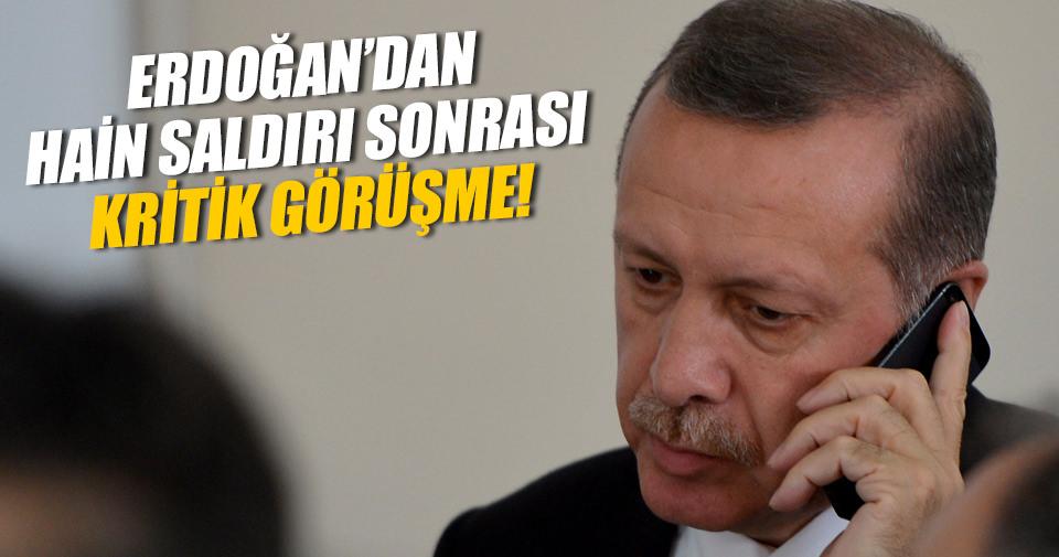 Cumhurbaşkanı Erdoğan yetkililerden bilgi aldı