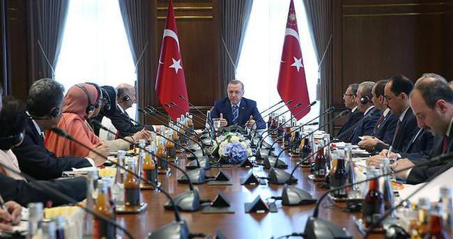 Erdoğan, Pakistanlı heyeti kabul etti