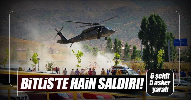 Bitlis'ten kahreden haber: 6 şehit, 5 yaralı