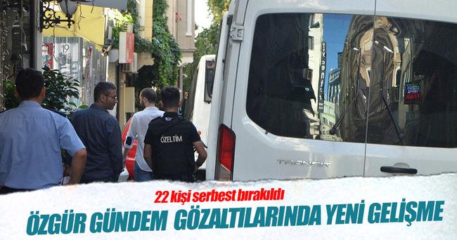 Özgür Gündem'de gözaltına alınanlardan 22 kişi serbest bırakıldı