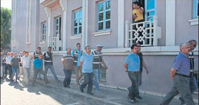 Fethiye'de 15 şüpheli adliyede
