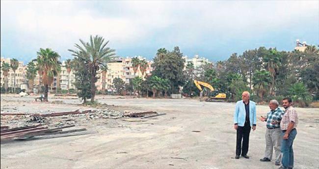 Karayolları arazisinde yıkım son aşamada