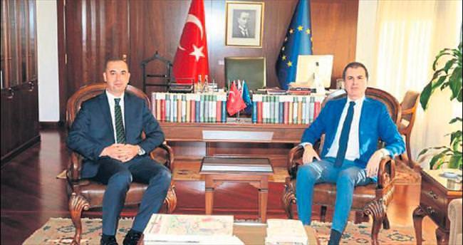 AB Bakanı Ömer Çelik Rektör Tümay'ı kabul etti
