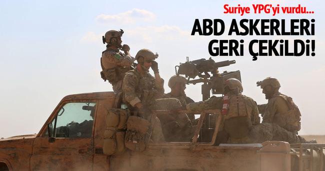 Suriye, Kürt güçlerini bombaladı, ABD askerleri çekildi