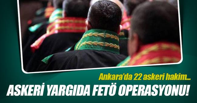 FETÖ'cü 22 askeri hakim tutuklandı!