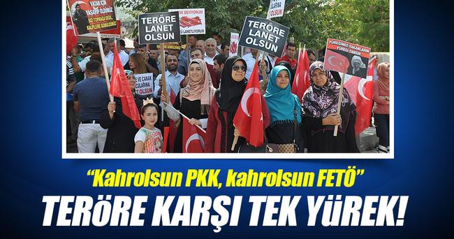 Bitlis ve Muş'ta terör saldırılarına büyük tepki!