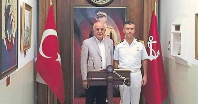 Başkan Seyfi Dingil'den üs komutanına ziyaret