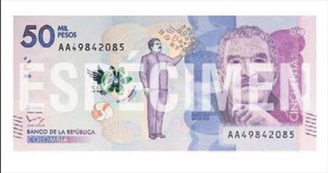 Marquez'in fotoğrafı banknota basıldı