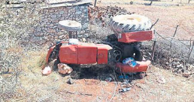Traktör kazası: 1 ölü 1 yaralı var