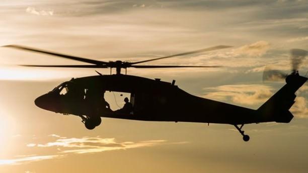 Yaralı dağcı askeri helikopterle kurtarıldı