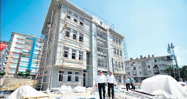 Pursaklar'da yeni kreşin inşaatı hızla ilerliyor