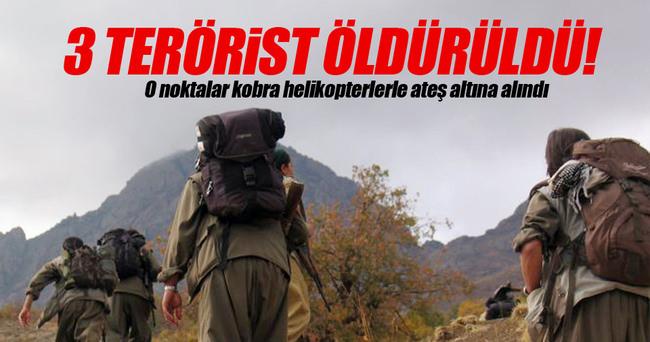 PKK'lı 3 terörist öldürüldü!