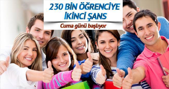 230 BİN ADAY İÇİN İKİNCİ ŞANS
