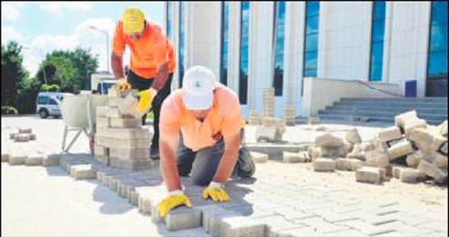 Pursaklar'da asfalt çalışması hızlandı