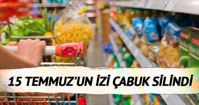 Tüketici 15 Temmuz'un izini sildi