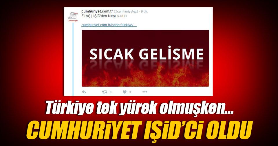 Cumhuriyet'ten skandal tweet