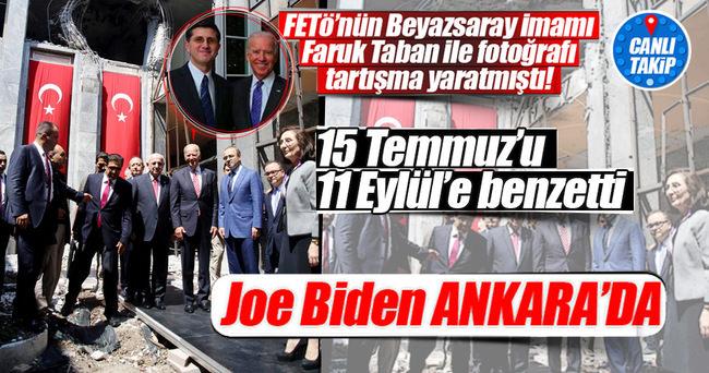 Joe Biden Ankara'ya geldi