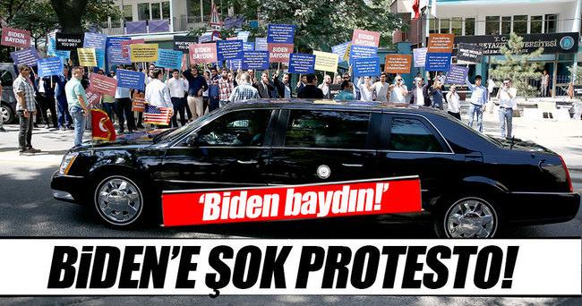 Başkentte Biden protestosu