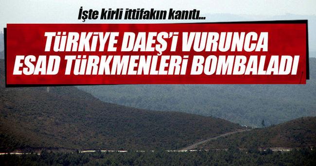 İşte kirli ittifakın kanıtı! Esad Türkmendağı'nı bombalıyor