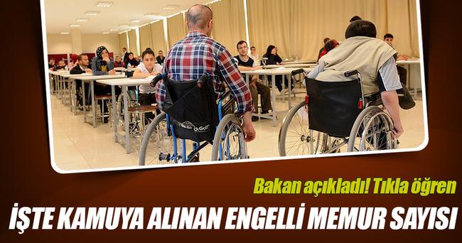 Engelli vatandaşların ataması yapıldı