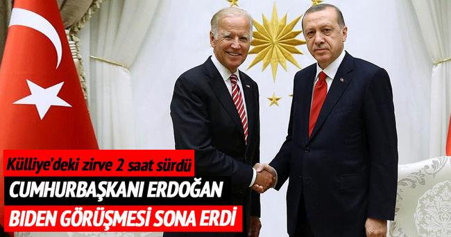 Cumhurbaşkanı Erdoğan Biden'i kabul etti