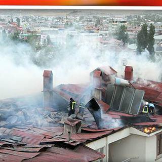 Mangal keyfi apartmanı yaktı