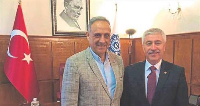 Başkan Badem'den Hoşcoşkun'a ziyaret