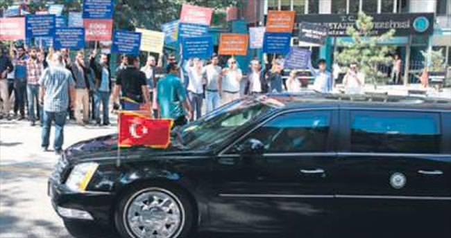 Başkentte Joe Biden protestosu